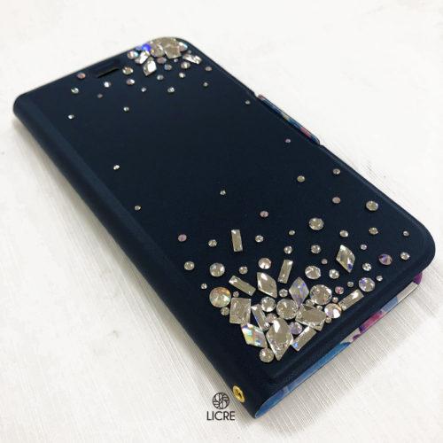 スワロフスキー手帳型iphoneケース