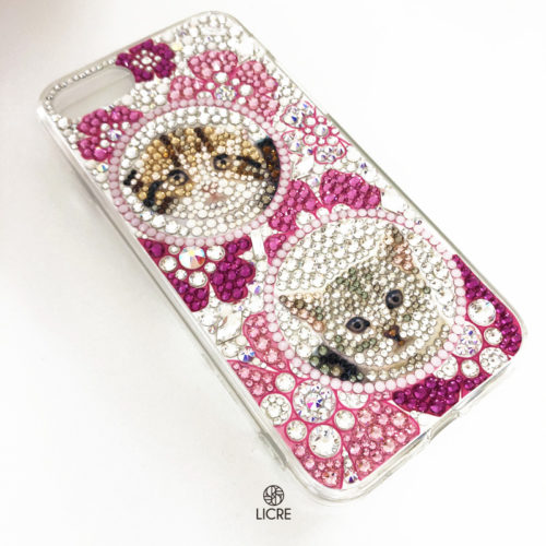 iphoneSEスワロフスキーデコレーション
